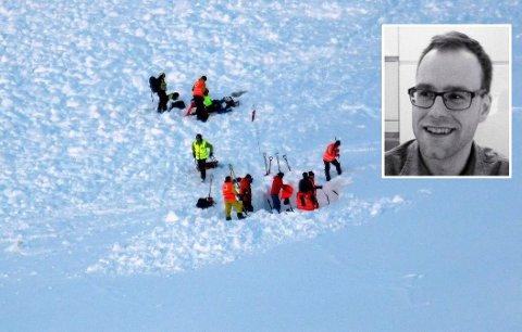 SØKER: Onsdag starter nye søk etter Niklas Nyman (36) (innfelt) i Tamokdalen. Her fra leteaksjonen i vinter.
