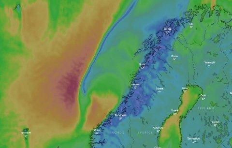 DÅRLIG VÆR: Regn og lavere temperaturer er på vei nordover.
