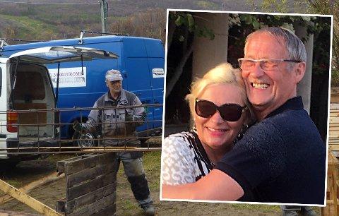 VINNER: Oddvar Erling Pedersen (innfelt med kona Natalja Pedersen) driver en suksessbedrift i byggebransjen. Nå må han legge ned, om ingen vil overta bedriften.