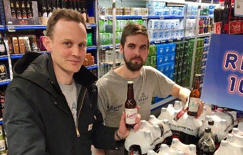 Daglig leder og medeier Martin Søbstad Amundsen, sammen med brygger og medeier Marius Graff.