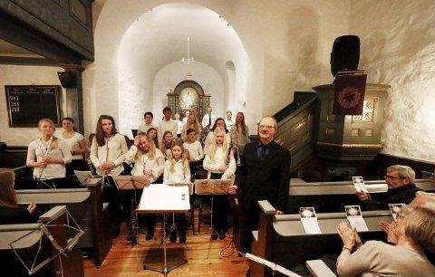 FLINKE: Hovedkorpset og dirigent Viggo Vea fikk velfortjent applaus fra et stort publikum.