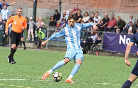 Markus Klepp Kraiem scoret to ganger mot Fram Larvik.