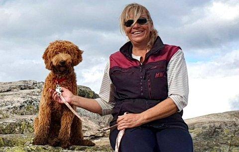 Lettet:  Jeg priser meg lykkelig over at det endte godt, men har fått meg en vekker, sier Lena Skjønhaug, som har hatt mange hunder..