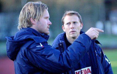 NY JOBB: Hugo Pereira er akkurat ferdig som assistenttrener for Columbia. Her sammen med Hans-Erik Eriksen som nå er trenerutvikler i Vålerenga.