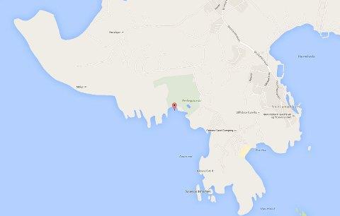 Det var i dette området seilbrettet forsvant mandag ettermiddag