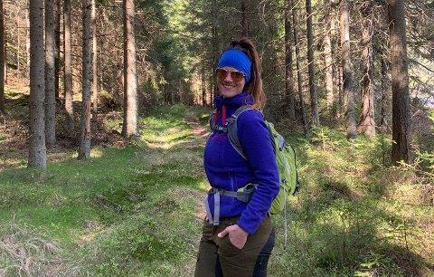 TURGLEDE: Å gå er viktig for Elin Saga, som det siste året har gått nærmere 40 turer for å fullføre sitt spreke prosjekt.