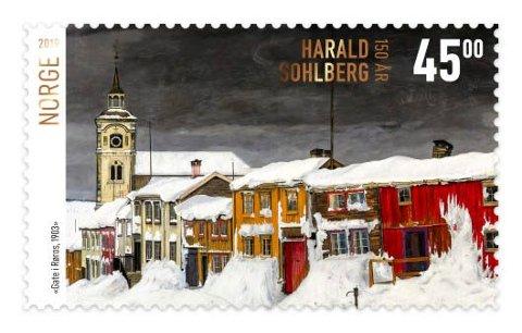 RØROS-MOTIV: Dette frimerket ble kåret til verdens vakreste i 2019.
