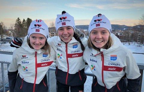 TRIO: Gyda Westvold Hansen (til venstre), Mari Leinan Lund og Marte Leinan Lund. (Arkivfoto).