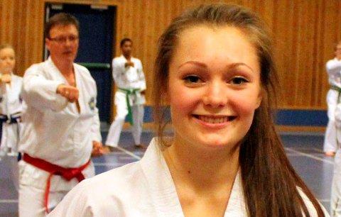 Kan vinne pris: Taekwondo-utøver Ellen Solli fra Langangen.
