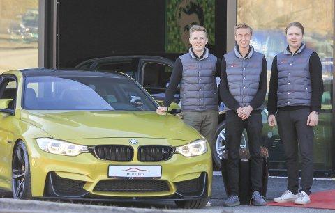 STOLTE: Marius Havenstrøm (21), Elias Findal (21) og Fredrik Nordengen (25) er stolte over at de turte å satse og starte opp under koronaen. – Vi visste at det var et sjansespill, men så langt har det gått bedre enn forventa.