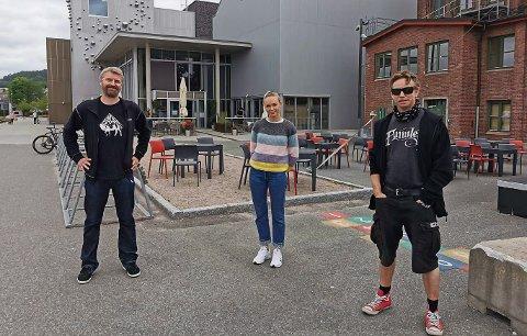 KLARE: Kulturhussjef Erik Friesl, Kristine Eldorsen og Pål Berby.