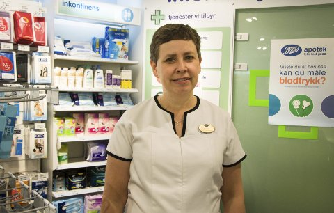 Spent: Borgfrid Krosby hos Boots Apotek Rakkestad håper det er kundegrunnlag for to apotek i Rakkestad.
