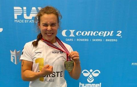 Norgesmester: Hedda Torp Nygård (20) ga alt og sikret seg NM-gullet.