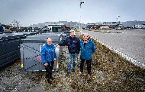 Leif Sagen (t.v.) i Meyership, Kenneth Vonstad i BaRe Nord og Ole Tom Sjule (t.h.) i Arne Sjule AS er skuffet etter Fylkesmannen i Nordlands avgjørelse i HAF-saken. Nå vil de diskutere hva de skal gjøre videre i saken.