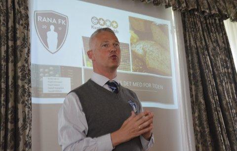 Sigurd Hognestad har sagt opp som daglig leder i Rana FK. Nå vender han tilbake til skoleverket, der han jobbet i 20 år før han gikk over til fotballen. Foto: Gøran O. Pedersen