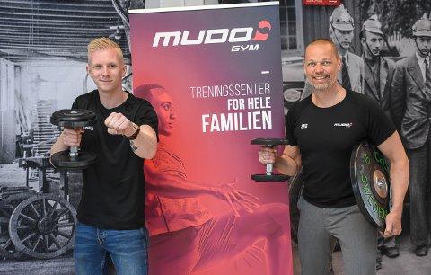 Klare: Senterleder Mathias Westbakken og driver Stig Lyshaug gleder seg til å kunne åpne dørene til Mudo Moelv.