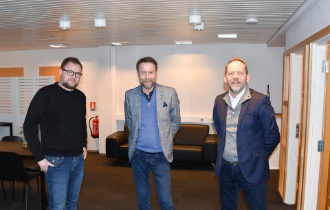 Fra venstre: Truls Haakonsen, Tom Haakonsen og Leif Atle Viken.