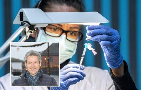 KAN HÅNDTERE FLERE: Ringsaker kommune får denne uken 700 vaksinedoser og har kapasitet til å håndtere et mye større antall. Innfelt kommunalsjef Sverre Rudjord.