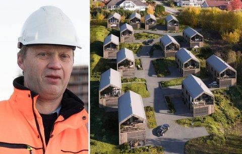 I TERRENGET: Slik er de planlagte boligene Færdentoppen plassert på eiendommen. Runar Slålien håper å komme i gang med byggingen til sommeren.