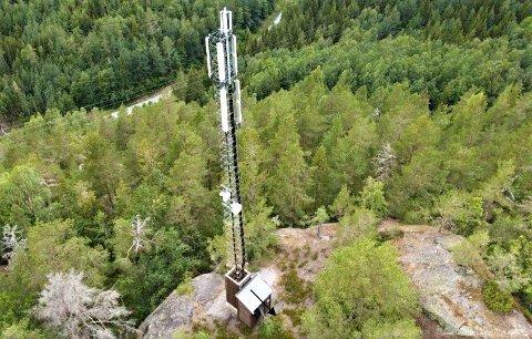 MAST: Eksempel på en mobilmast - fra Sannidal. foto Telenor.