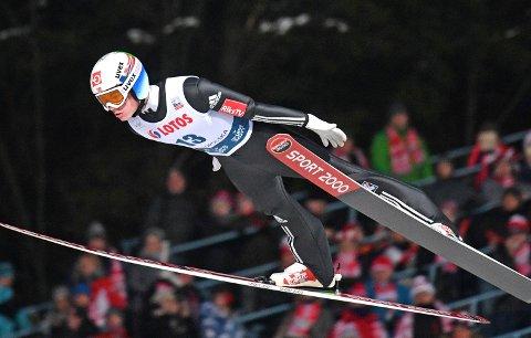 OL-NEI: Marius Lindvik skal ikke til OL. (AP Photo/Alik Keplicz)