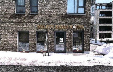 HOVEDINNGANGEN: Slik ser Bislett Kebab House for seg skiltingen fra hovedinngangen i Ødegårds vei. Ill.: Trendy Eiendom/Skiltmakeren AS