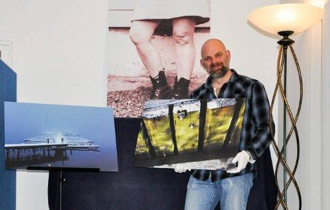 KREATIV: – Det er mange likheter mellom trommespilling og fotografering, mener Lutz Lundberg. Fredag 4. november åpner fotoutstillingens hans på Draaben i Sandefjord.