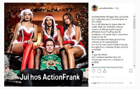 SYNGER JULEN INN: Frank Løke har alt gitt ut én låt, nå kommer han med sin første julelåt.