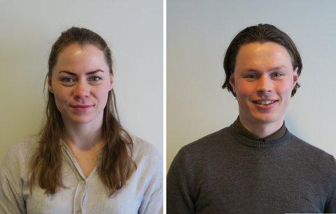 NY JOBB: Renate Ottebergsen og Kjetil Ødegård skilte seg ut blant 100 søkere og fikk jobb hos Sandefjord-firmaet.