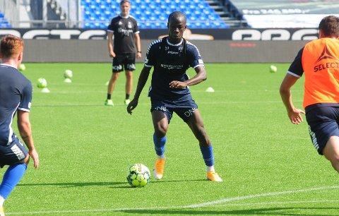 Tilbake: Boubacar Konte var tirsdag tilbake på trening etter å ha vært koronasmittet.