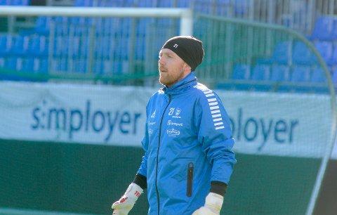 SKADET: Målvakt Anders Kristiansen sliter med en skade, men er forhåpentligvis tilbake i full trening fra 12. april.
