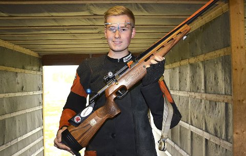 VANT: Junioren Aleksander Bech Lund vant klasse 4 i Søndre Land med solide 343 poeng.