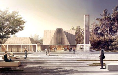 Slik skal den nye kirken i Sola se ut.