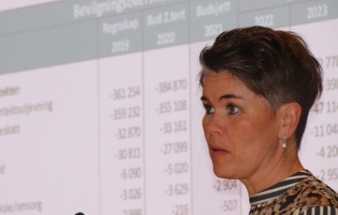 ADVARER: Økonomisjef Hanne K. Fjelde Krog legger fram utregninger og en faglig advarsel mot å innføre de planlagte endringene i formuesskatten. Arkivfoto