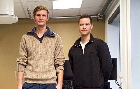 SETPOINT: Studiekameratene Edward Hugh Hannay Cambell (23) og Svein Collier Mathisen (28) har startet opp bedriften Setpoint i Tønsberg. De utvikler løsninger med kunstig intelligens.