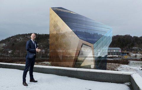 BYGG NUMMER TO: R8 Property AS med hovedaksjonær Emil Eriksrød vil bygge enda et Powerhouse i Porsgrunn. Dette bildet stammer fra tiden under planleggingen av det første.