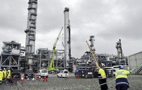 Gassanlegg: 5. juni1997 var en merkedag for Aure og hele regionen da gassen fra Heidrun-feltet begynte å strømme gjennom Haltenpipe-røret og inn til metanolfabrikken på Tjeldbergodden. Dette bildet er tatt i nyere tid.