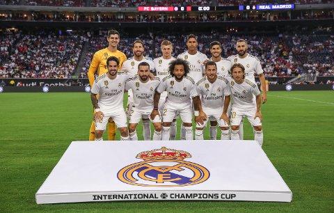 Real Madrid er nå verdens mest verdifulle fotballklubb, verdsatt til 36,3 milliarder kroner. Her før kampen mot Bayern München 20. juli på NRG Stadium i Texas, USA under The International Champions Cup soccer series.