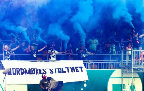 Den 12. mann: Uglan skapte magisk stemning på Kristiansund stadion mandag.