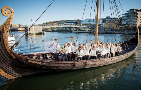 JUBILEUMSKONSERT: Oseberg Musikkorps feirer nå sine første ti.