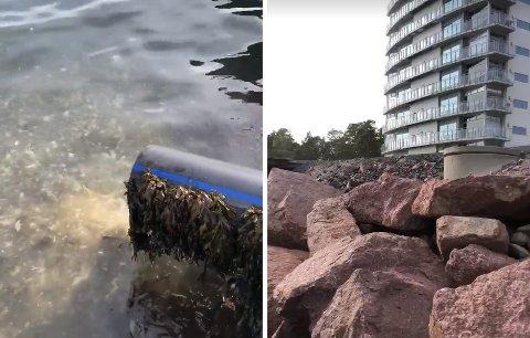 SE VIDEO: Her strømmer kloakken rett ut. Se video nede i saken.