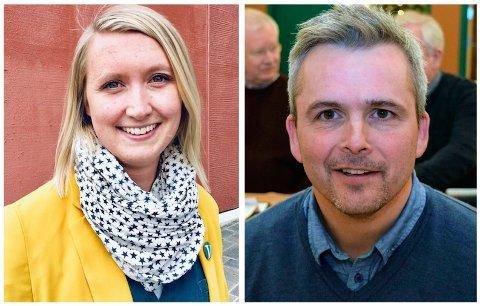 SVARER: Kristin Jess Bakken (V) og Bror Helgestad (Sp) stiller til valg i Østre Toten, og er først ut til å svare på Toten Idags spørsmål.