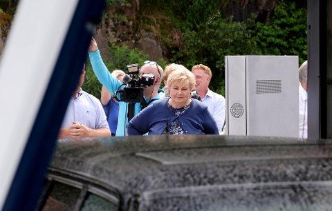 DÅRLIGE TALL: Statsminister Erna Solberg er i trøbbel ved inngangen til valgkampen i Sør-Trøndelag.