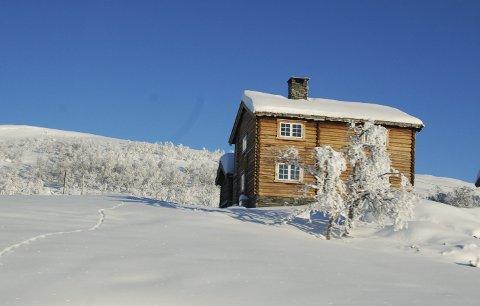 Julestemning: Ved Garli nord for Beitostølen vesle julaftan.