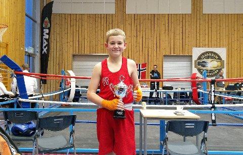 Nytt trofe: Emil Bye Eriksen (13) fra Vestby vant A-klassen sammenlagt i sitt første år i årsklassen 13-15 år