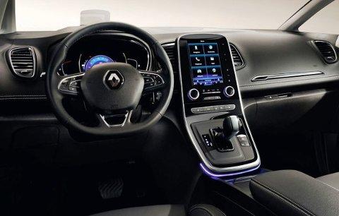Stående skjerm, ala Tesla, og fleksible løsninger på interiøret.