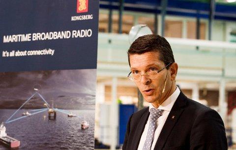 TRAVELT: Konsernsjef Geir Håøy i Kongsberg Gruppen sier selskapet står foran noen hektiske år.