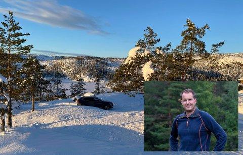 KJØPT TOMT: Nå har Per Gunvald Haugen kjøpt seg hyttetomt i hyttefeltet Felehovet Nord, rett ved Gautefall. Han håper at hytta kan stå klar i slutten av året.