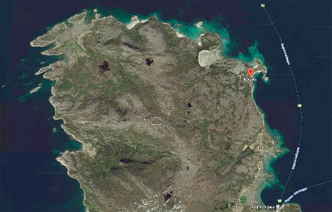 Langt nord: Korsnes-eiendommen befinner seg langt nord i Tysfjord.