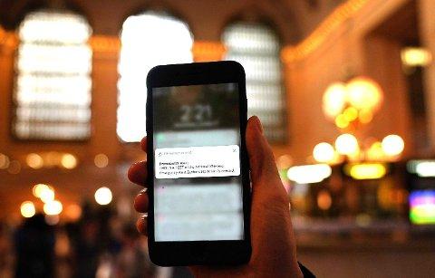 Amerikanske myndigheter tester ut mobilvarslingssystemet, som skal tas i bruk dersom landet står overfor et umiddelbart atomangrep eller konvensjonelt angrep. Varslingssystemet kan også benyttes i forbindelse med andre krisesituasjoner.